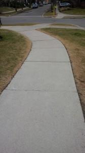 Salt Damage Along Sidewalk Edges