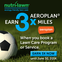 Aeroplan Members can now earn 3x Aeroplan Miles with Nutri-Lawn Ecology Friendly Programs and Services - Featured Image