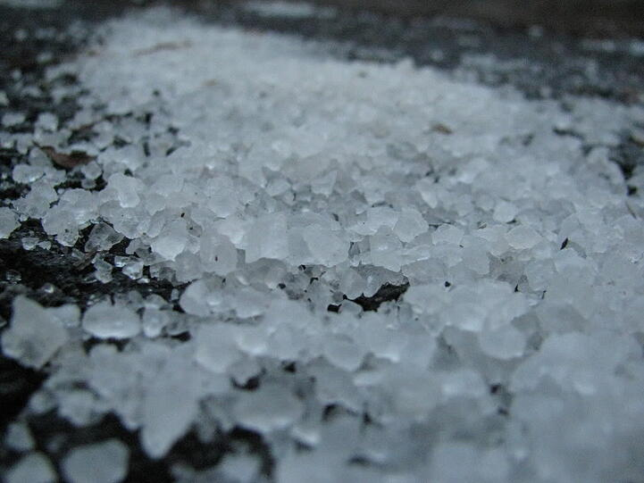 Road salts can be very hard on the lawn and the soil.