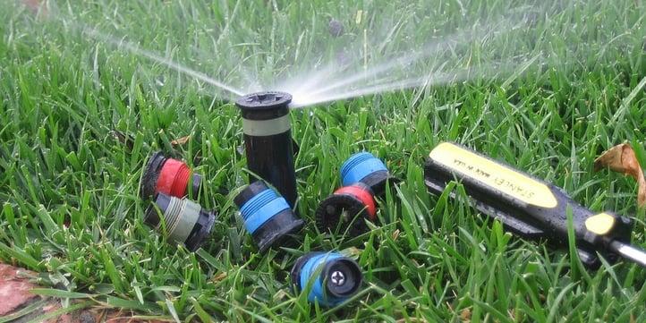 An irrigation blowout involves a high-powered air compressor