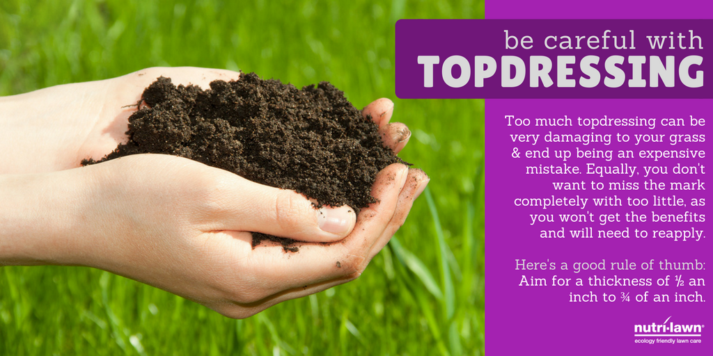 Topdressing is a great way to add more organic matter to your lawn before winter.