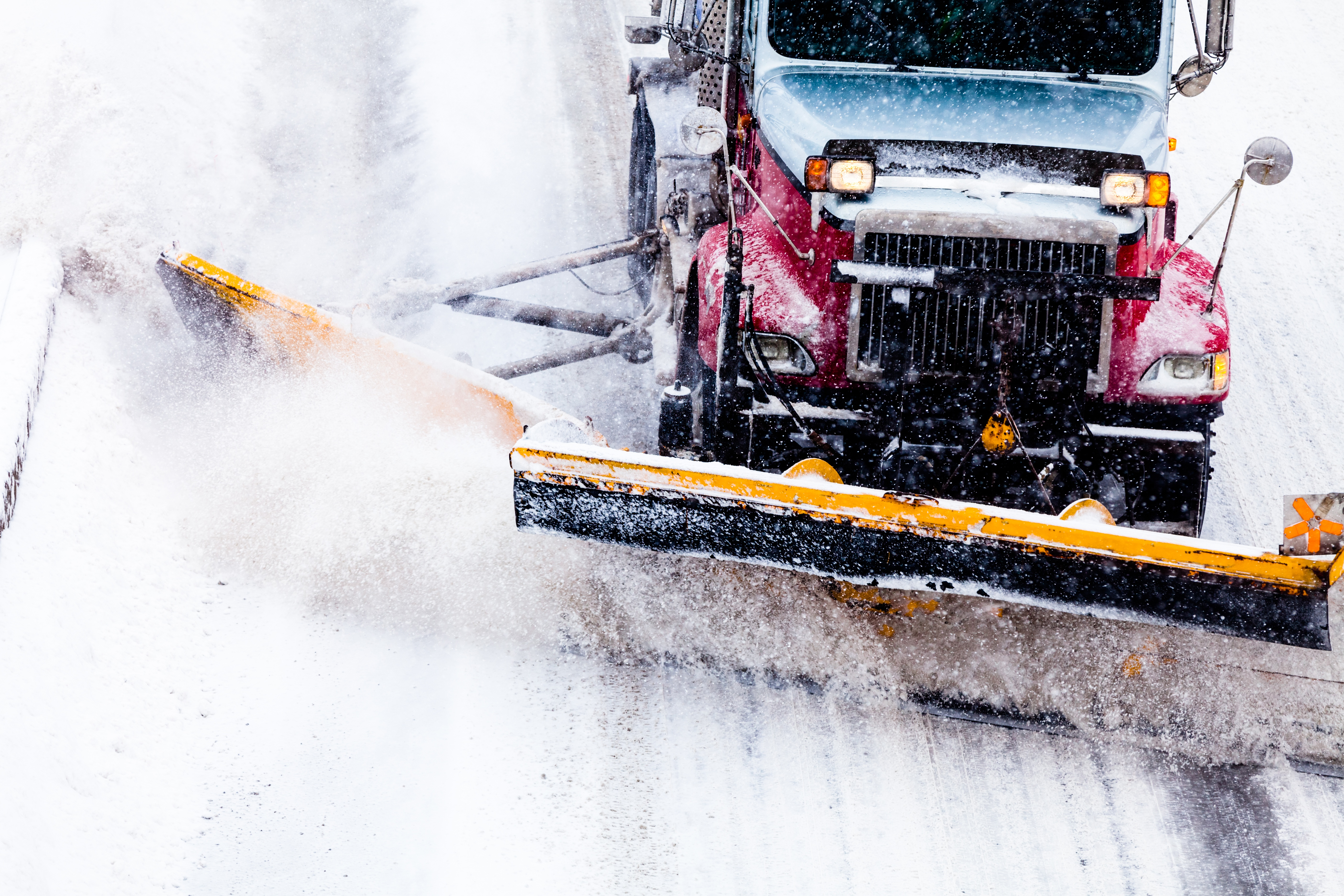 Some of the most severe damage that can happen to a lawn over the winter months is from snow plows