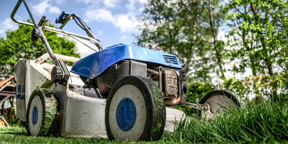Mow your lawn when it is dry.