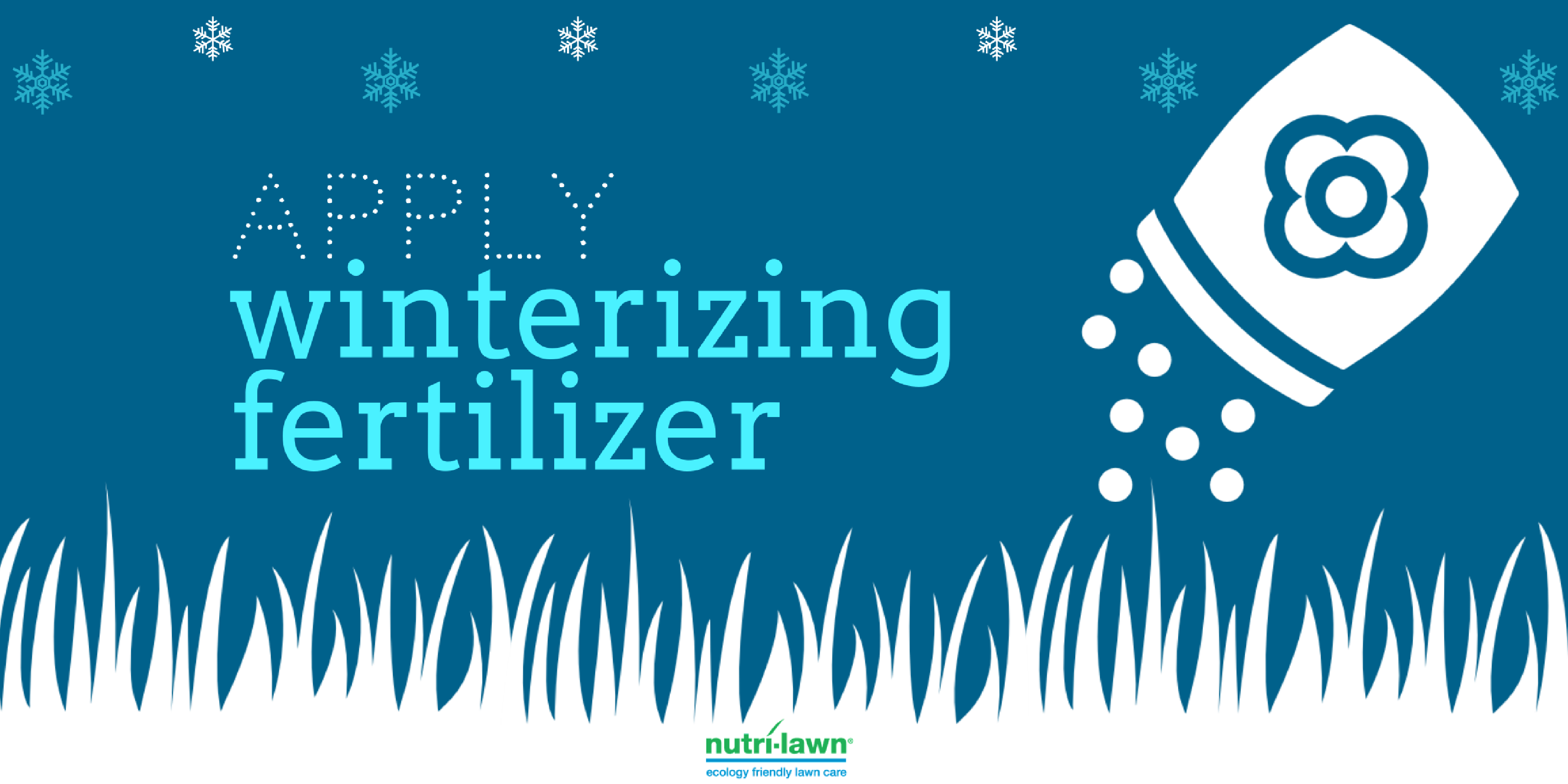 Another good rule of thumb is to apply your winterizer after you've finished your last cut for the season.